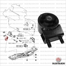 Support moteur/tranmission Mazda 626, MX-6