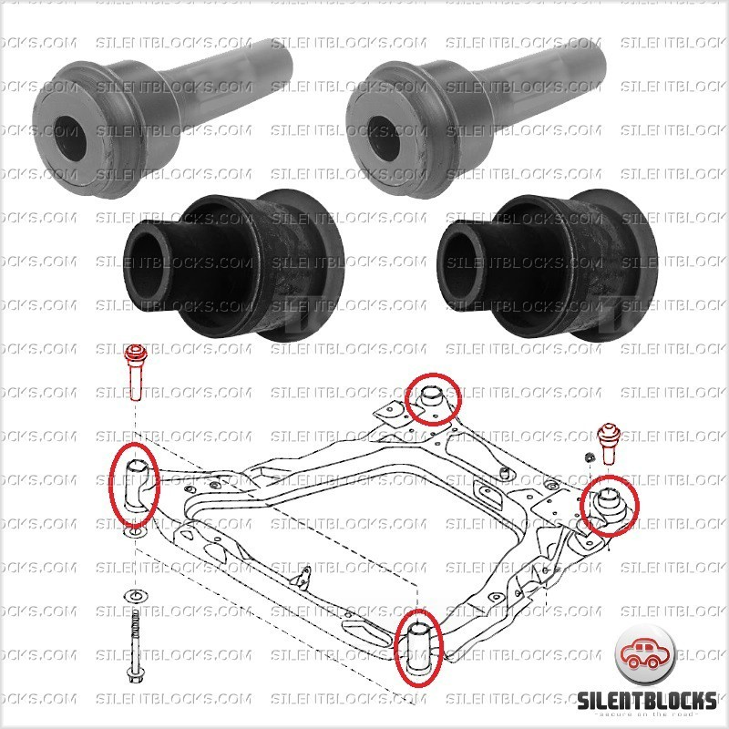 front subframe bushes nissan qashqai silentblocks. Black Bedroom Furniture Sets. Home Design Ideas