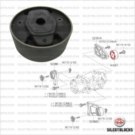 Silentbloc support transmission RAV4, Auris