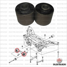 2 Rear differential mount bushes
