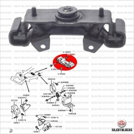 Support de transmission, L200, Pajero Sport